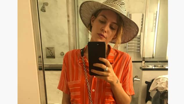 Riley Keough shared this cute selfie on Instagram
