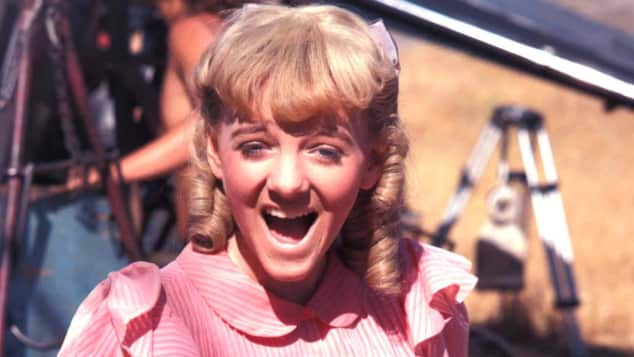 """Alison Arngrim as """"Nellie"""" in """"Little House on the Prairie"""""""