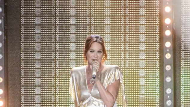 """Andrea Berg in einem knappen Outfit bei der """"Starnacht"""" in Klagenfurth"""