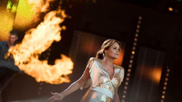 "Sängerin Andrea Berg bei der ""Starnacht"" in Klagenfurt"