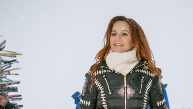 Andrea Berg Winter-Look Ischgl