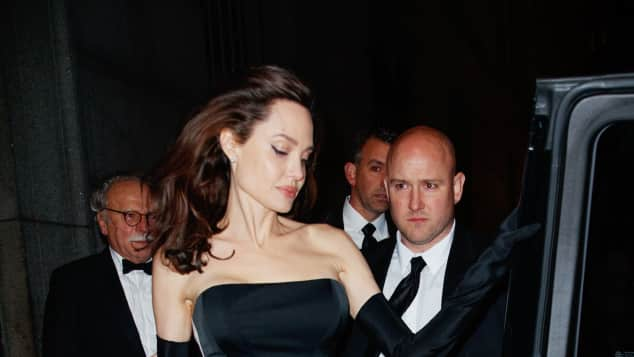 Angelina Jolie beim Verlassen eines Restaurants in New York Ende Dezember 2017