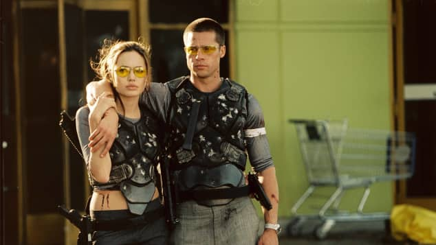"Angelina Jolie und Brad Pitt in der Komödie ""Mr. & Mrs. Smith"""