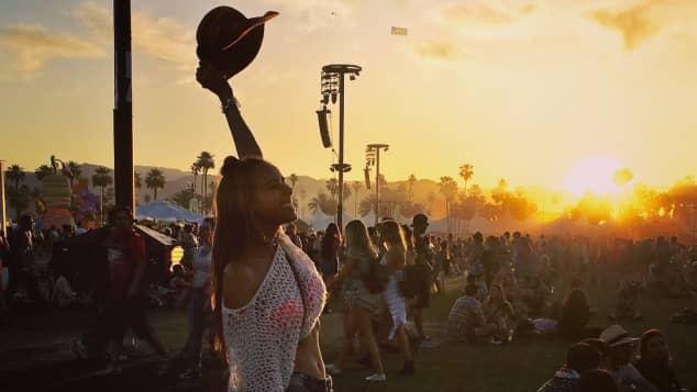 Annemarie Carpendale beim Coachella Festival