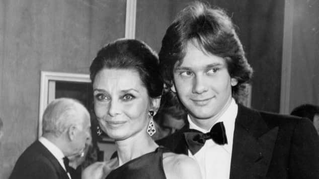 Audrey Hepburn und Sohn Sean Hepburn Ferrer