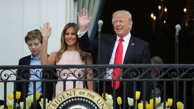 Barron Trump, Melania Trump und Donald Trump