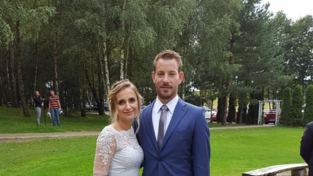 Bauer Gerald und Anna super elegant auf einer Hochzeit