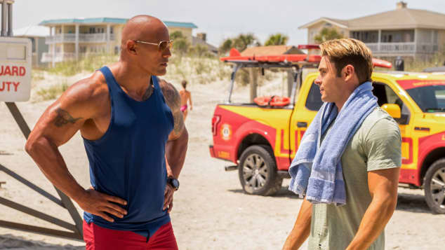 Baywatch Zac Efron Dwayne Johnson