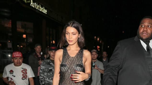 Topmodel Bella Hadid super sexy nach der Met Gala 2017