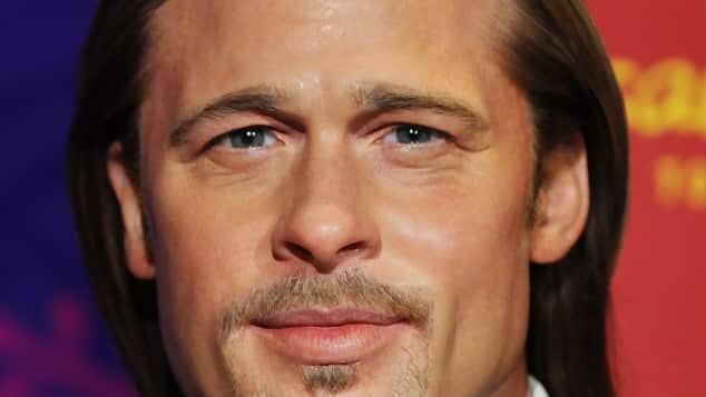 Brad Pitt als schreckliche Wachsfigur