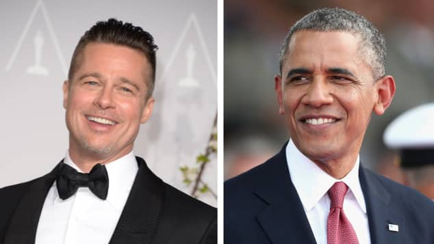 Brad Pitt und Barack Obama