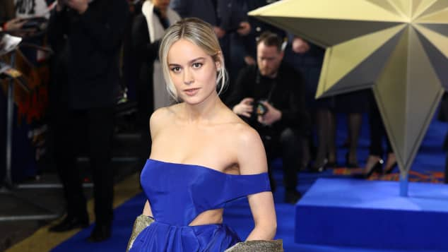 Brie Larson attends the 'Captain Marvel' European Gala Premiere on February 27, 2019 in London