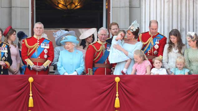 Britische Königsfamilie Queen
