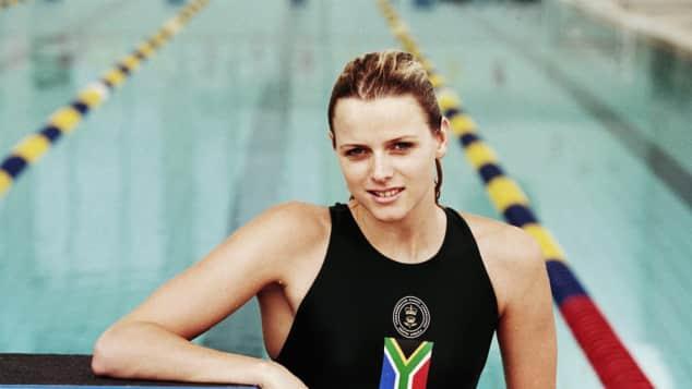 Charlène von Monaco früher Schwimmen