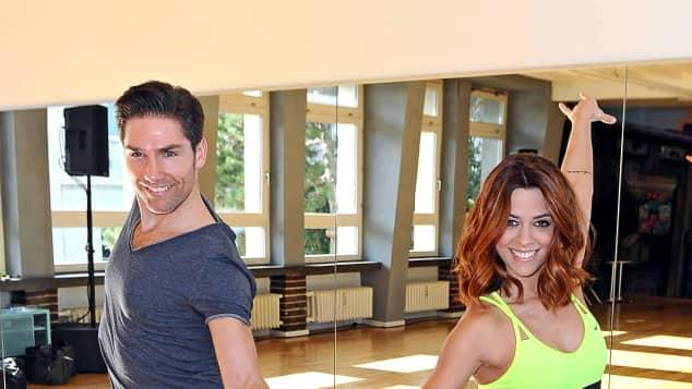"""Profitänzer Christian Polanc und Sängerin Vanessa Mai bei den Vorbereitungen für """"Let's Dance"""""""