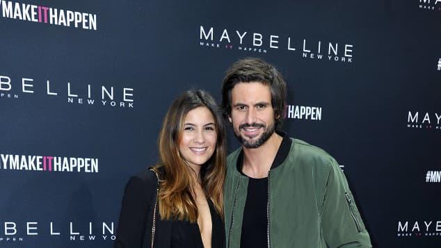 Chryssanthi Kavazi und Tom Beck auf der Fashion Week