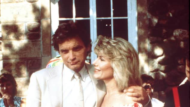 "David Selby and Susan Sullivan in ""Falcon Crest"""