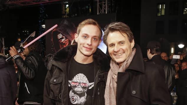 """David und Wolfgang Bahro auf der """"Star Wars""""-Premiere"""