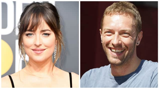 Dakota Johnson Chris Martin Paar