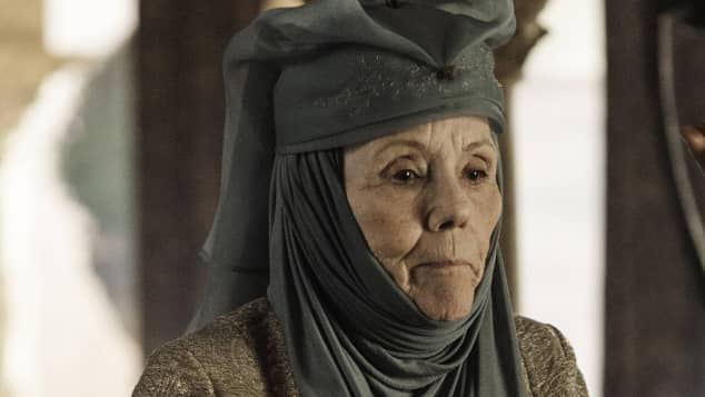 "Diana Rigg als ""Lady Olenna Tyrell"" in ""Game of Thrones"""