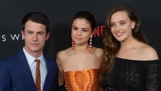 Dylan Minette, Selena Gomez und Katherine Langford