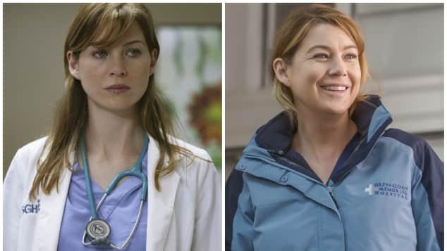 "Ellen Pompeo as ""Meredith Grey"" in ""Grey's Anatomy"""