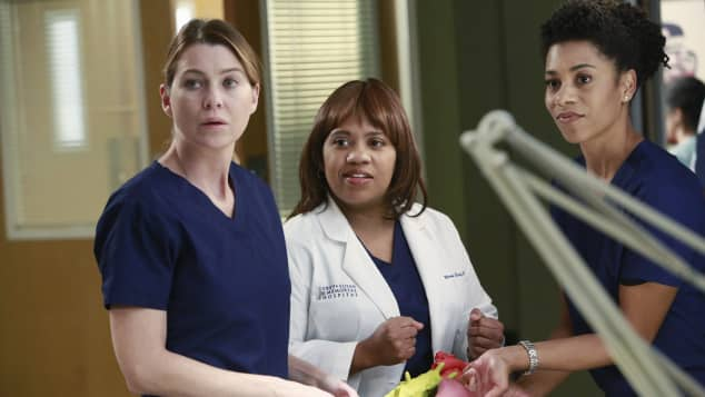"Ellen Pompeo and Chandra Wilson in ""Grey's Anatomy"""