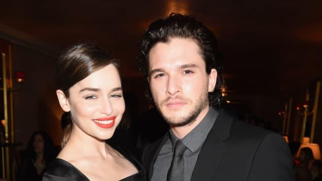 """Emilia Clarke und Kit Harington bei der Premiere der fünften """"Game of Thrones""""-Staffel"""