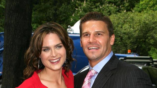 Emily Deschanel und David Boreanaz