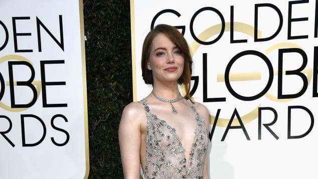 Emma Stone bei den Golden Globes 2017