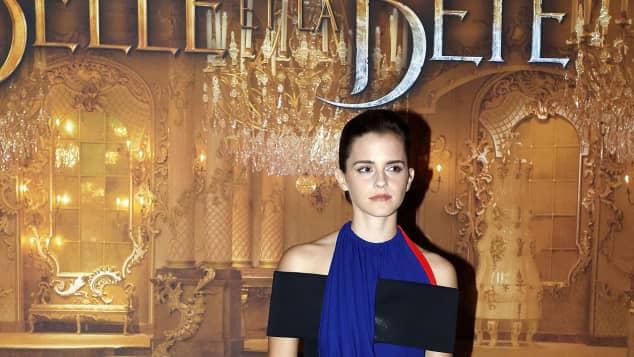 """Emma Watson bei der Premiere von """"Die Schöne und das Biest"""" Schauspielerin Hollywood-Schönheit"""