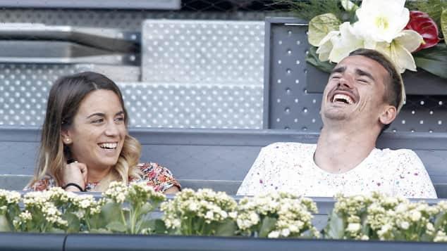 Antoine Griezmann und seine Freundin Erika bei einem Tennis-Match in Madrid