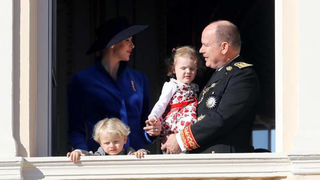 Fürst Albert von Monaco Fürstin Charlène von Monaco Prinz Jacques Prinzessin Gabriella
