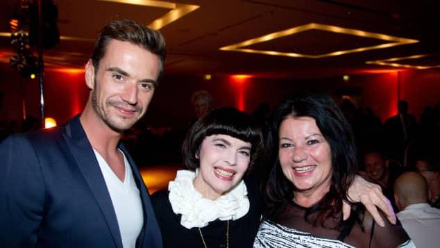 """Florian Silbereisen, Mireille Mathieu und Helga Silbereisen bei der ARD Liveshow """"Das Herbstfest der Träume"""" Mutter Sohn das ist seine Mutter"""