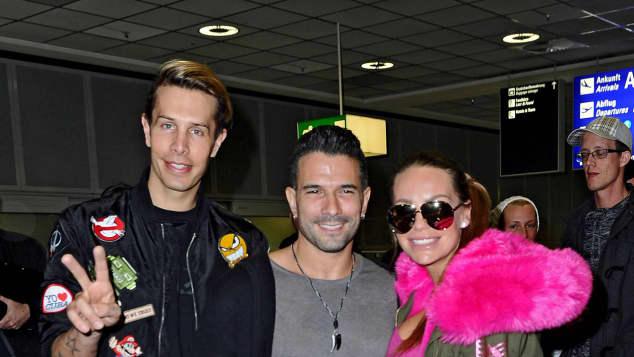 Dschungelkönig Marc Terenzi wieder in Deutschland Dschungelcamp Dschungel Australien RTL Show gelandet Gina-Lisa Lohfink Marc Terenzi Ex-Partner