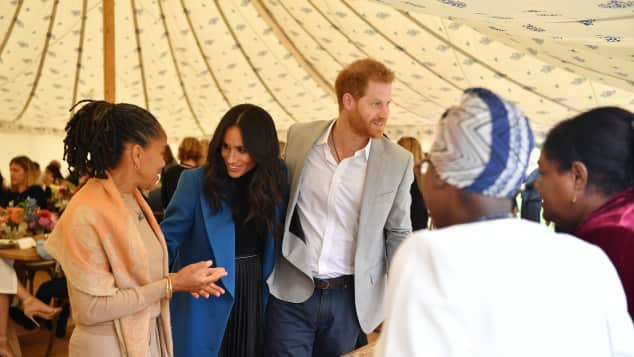 The Duke and Duchess of Sussex and Doria Ragland