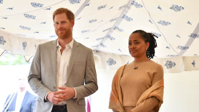 Prince Harry and Doria Ragland at charity cookbook launch for women affected by Grenfell Tower fire