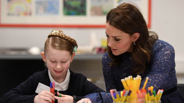 Duchess Catherine at Place2Be Mental Health Charity