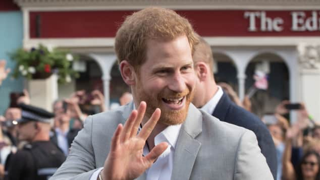 Prince Harry waves to his fans