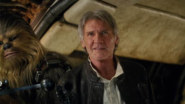 Harrison Ford und Chewbacca