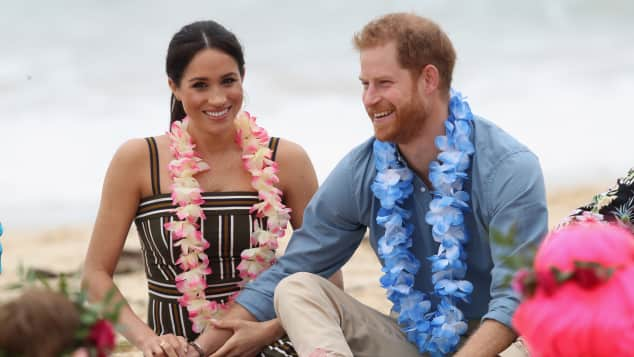 The Duke and Duchess of Sussex at South Bondi Beach