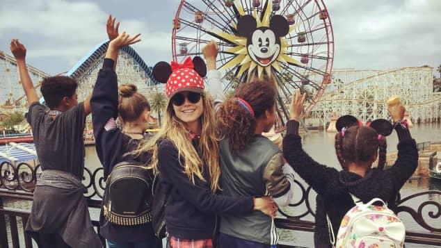 Heidi Klum am Muttertag 2017 mit ihren Kids im Disney Land