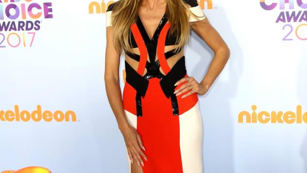 Heidi Klum im sexy Outfit auf den Kids' Choice Awards