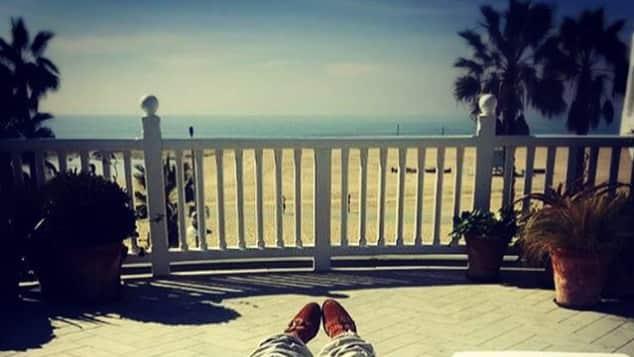 Heidi Klum Auszeit GNTM Balkon Sonne Strand Aussicht Topmodel Model-Mama dünn mager wo sind ihre Kurven?