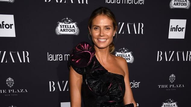 Heidi Klum zeigt sich bei der Harpers Bazaar Icons-Party völlig ungeschminkt
