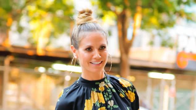 Heidi Klum mit auffälliger Dutt-Frisur in New York