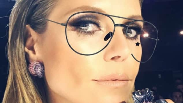 "Model Heidi Klum mit Brille bei ""America's Got Talent"""