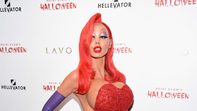 Heidi Klum feierte Halloween als Jessica Rabbit