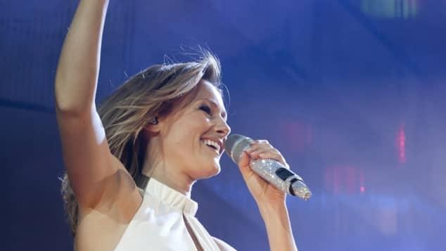 Helene Fischer während eines Konzerts