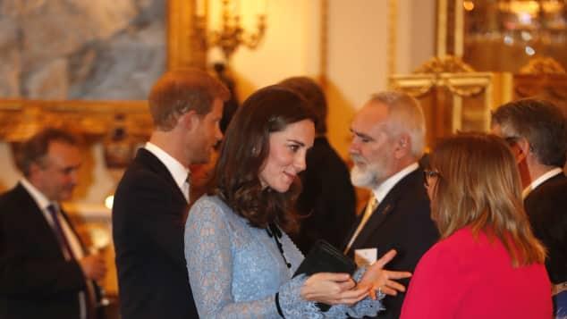 Herzogin Catherine bei einem Empfang im Buckingham Palast im Oktober 2017